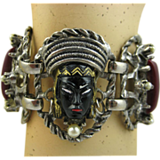 1950's Selro Blackamoor Bracelet - Rare Super Condition