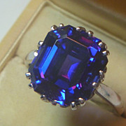SALE Estate Tanzanite & 14k White Gold Ring