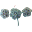 Vintage Marvella Pretty Flower Parure Brooch & Earrings