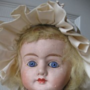 Nice Large Patent Washable - Bright Blue Eyes!