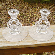 Cambridge Elaine Keyhole Candleholders Pair