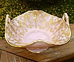 Cambridge Gold Encrusted Rose Point Crown Tuscan Basket/Bowl
