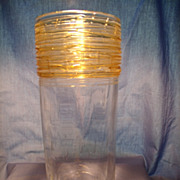 Fry Threaded Art Glass Vase
