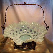 Antique Coin Dot Brides Basket in Holder