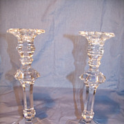 Val St Lambert  &quot;Bonaparte&quot; Candlesticks