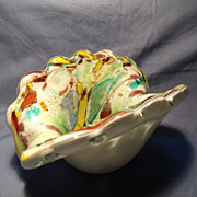 Murano Open Clam Shell Bowl