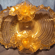 Murano Barovier Golden Roses Bowl