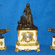 REDUCED Breathtaking and Exclusive Bronze Clock Set !!