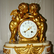 REDUCED Outstanding and Unique Bronze Gilt Mantel Clock !!