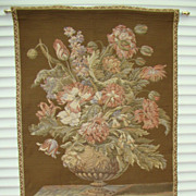 SALE Unique and Handmade Tapestry with Beautiful Flowers !!