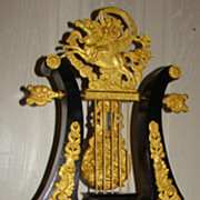 SALE Exceptional and Unique Lyre Mantel Clock !! Price Drastic Reduced !!