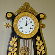 SALE Extraordinary and Charming Lyre Mantel Clock !!Price Drastic Reduced !!