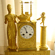SALE Breathtaking and Exclusive Empire Mantel Clock !! Price Drastic Reduced !!