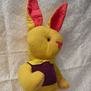 "SALE Vintage Stuffed Glass Eyed Rabbit 16"" for Easter"