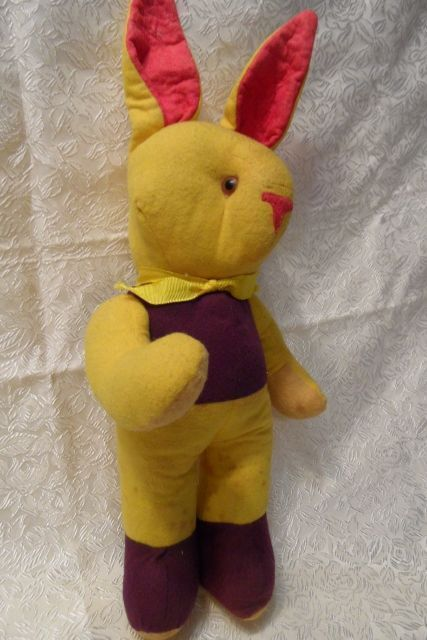 Vintage Stuffed Glass Eyed Rabbit 16&quot; for Easter