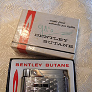 Bentley Butane Chrome Lighter Unused in Box