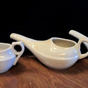 SALE 50% OFF 3 Old Medical Invalid Feeder Pots~Ironstone and Porcelain
