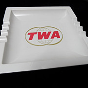 Vintage 1960's TWA Melamine Large Ashtray