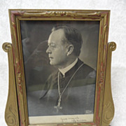 SALE 50% OFF  1921 Autographed Photo of Priest Bishop Peter Muldoon in Vintage Frame