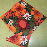 Retro Mod Flower Power Table Napkins~Set of 4