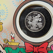 .999 Pure Fine Silver Disney Rarities Mickey Mouse & Pluto Mint Coin