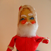 Vintage Wind Up Mechanical Bell Ringing Santa Claus
