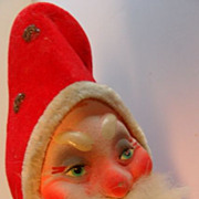 SALE German Paper Mache Santa Candy Container