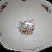 "Irish Bone China ""Royal Tara"" Symphony Centre Footed 9 1/2"" Bowl"