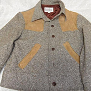 Vintage Men's Wool Tweed Short Mod Eisenhower Style Jacket 40