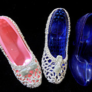 Vintage Plastic Vanity High Heel Shoes to Hold Perfumes, Lipsticks, Etc.