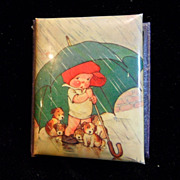 Vintage William Hall & Co.Needle Book with Baby & Puppies