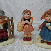 Adorable Vintage Hummel Style Candle Figurines`Very Unique
