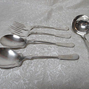 "The ""Bailey Banks & Biddle Co."" Fine Silverplate Fiddleback Flatware Serving Pieces"