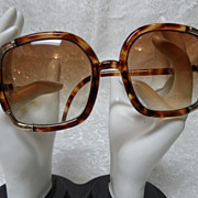 Vintage 1970's Ted Lapidus Paris Oversized Tortoise Shell Sunglasses