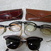 3 Pair of Vintage 1950's 1/10 12 KGF Eye Glasses~Artcraft, Shuron