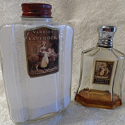 Vintage Yardley Old English Lavender Perfume Bottle & Talc Bottle