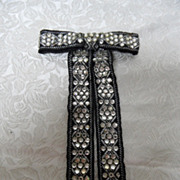 Vintage Western Rhinestone Bling Bow Tie