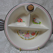 "Adorable Deco ""Mary Had A Little Lamb"" Baby Warming Dish"