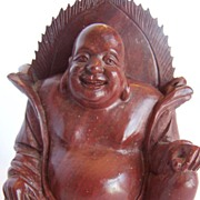 Vintage Soapstone Carved Happy Buddha