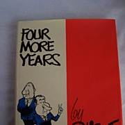 "SALE 50% OFF Pat Oliphant Autographed  ""Four More Years"" Political Humor Book by Pat"