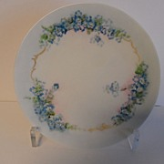 Hermann Ohme Silesia Signed Forget-Me-Not Flower Plate