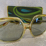 1960's Light Tortoise Jackie O Italian Sunglasses