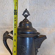 Antique Victorian Coffee Pot-Quadruple~Extra Large & Very Elegantly Decorated