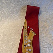 Saxophone Necktie by Vicky Davis of Fifth Avenue