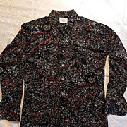 1960's Big Collar Retro Disco Men's Italian Shirt by Nicola Mancini