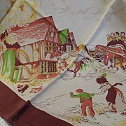 Old Western 1950's Ladies Scarf