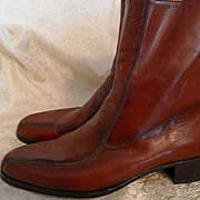 70's/80's NUN BUSH Mod Brown Leather Dress Boots Size 9 1/2B