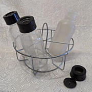 """Sunbabe"" Glass Doll Bottles & Sterilizer Carrier"