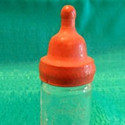 "Vintage ""Lynne"" Glass Doll Nurser Bottle by Jeanette"