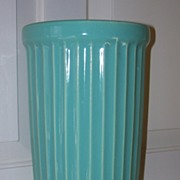 McCoy Aqua Ribbed Vase